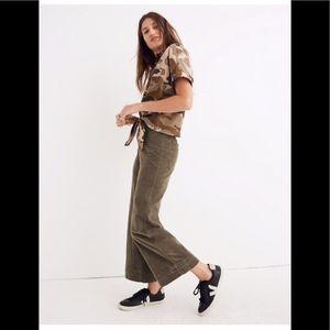 Madewell Emmett Wide-Leg Crop Pant Sz 28 NWT